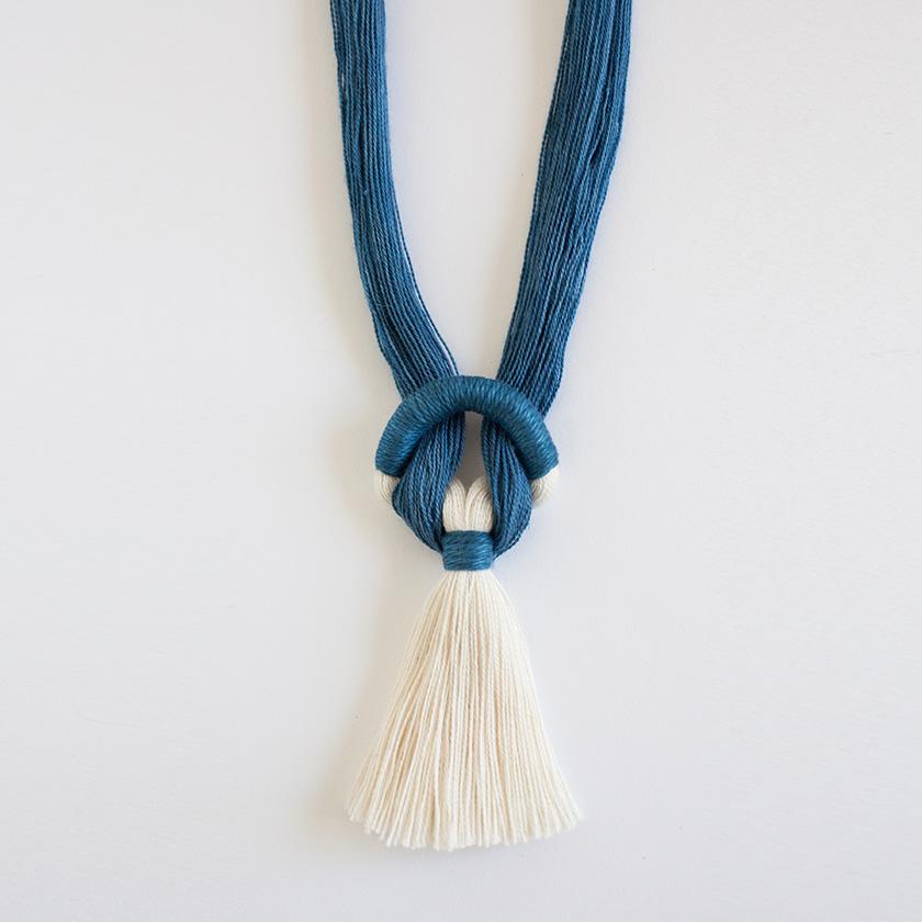 Necklace No. 9 in Indigo / Gamma Folk