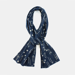 Indigo Arrow Scarf / Kiriko